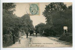 95 ARGENTEUIL Quartier Les Champioux Cyclistes Animation 1906 Timb - ELD 32   D19 2019 - Argenteuil
