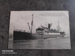 A.D. 87 CARTE POSTALE CP LE HAVRE BATEAU STEAMER PRINZ JOACHIM 1916 TBE - Dampfer