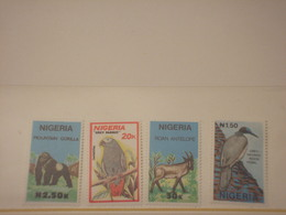NIGERIA - 1990 FAUNA 4 VALORI - NUOVI(++) - Nigeria (1961-...)
