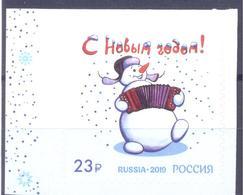 2019. Russia,  Happy New Year, 1v Self-adhesive, Mint/** - 1992-.... Federazione