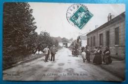 CPA - CENON - RARE ! - La Rue De La Mairie - Animée - - Francia