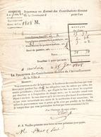 Vieux Papier Du Béarn, 1808, Sendets, Imprimé Des Contributions Directes De Paul Prat, Percepteur Elie De Morlaas - Historische Documenten