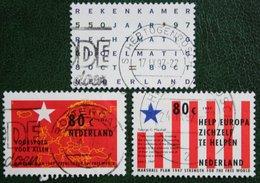 Marshalplan / Rode Banen Blauwe Ster Rekenkamer NVPH 1723-1725 (Mi 1619-1621) 1997 Gestempeld Used NEDERLAND NIEDERLANDE - 1980-... (Beatrix)