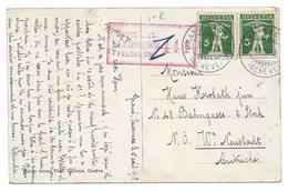 FELDKIRCH 441 GRAND SACONNEX POUR KROBATH NEUSTADT AUTRICHE - CPA TAMPON MILITAIRE - Guerre 1914-18