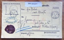 GERMANY POST-PACKETADRESSE FROM SCHILTIGHEIM 3/2/76    TO WOHLEN - SUISSE - Deutschland