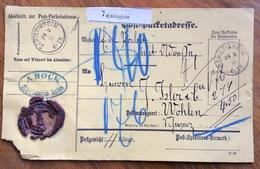 GERMANY POST-PACKETADRESSE FROM SCHILTIGHEIM 28/2/76   TO WOHLEN - SUISSE - Deutschland