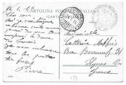 BATAILLON D INFANTERIE MILICIA VENICE POUR HYERES 1916 - CPA TAMPON MILITAIRE - Guerre 1914-18