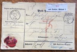 GERMANY POST-PACKETADRESSE FROM BRESLAU   BRZOSTOWA  26/1/75 TO WOHLEN - SUISSE - Deutschland