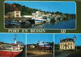 VR : CALVADOS : Port-En-Bessin : Le Port De Pêche, Chantier De Réparation, La Mairie (bateau) - Port-en-Bessin-Huppain