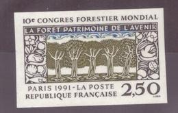 FRANCE - 1991 - NEUF** LUXE MNH - Yvert YT N° 2725a Congrès Forestier Mondial NON DENTELE Cote 18,50€ - France