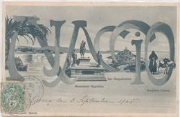 CORSE CPA  AJACCIO - Monument Napoléon, Iles Sanguinaires, Bergères Corses - Ed/ L.Cardinali - Ajaccio