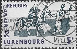 LUXEMBOURG 1960 World Refugee Year - 5f. The Flight Into Egypt (Biblical Scene) FU - Usati