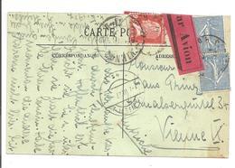 1927 Par Avion Semeuse + Pasteur Paris Vers Österreich Wien Pneumatique/Rohrpost - Poststempel (Briefe)