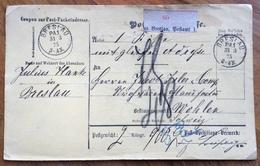 GERMANY POST-PACKETADRESSE FROM BRESLAU BRZOSTOWA  31/3/75  TO WOHLEN - SUISSE - Deutschland