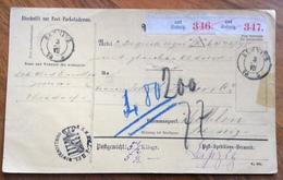 GERMANY POST-PACKETADRESSE FROM  SEBNITZ  3/VII/ 75 TO WOHLEN - SUISSE - Deutschland