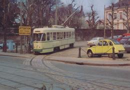 Saint Etienne (42) Motrice PCC Simple N°528 Sur La Raquette De La Manufacture En 1980 - Tramways