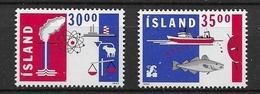 1992 MNH Iceland, Michel 766-7 Postfris** - 1944-... Repubblica