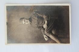 Carte Photo Militaire Soldat Américain 80th Division US Army Guerre 1914-1918 War WWI Militaria Military Soldier - Guerre 1914-18
