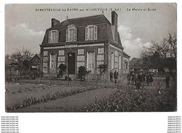 ECRETTEVILLE Les BAONS Par ALLOUVILLE La Mairie Et Ecole - Yvetot