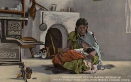 Cooking Stove & Indians , Pueblo , 00-10s - Native Americans