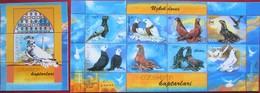 Uzbekistan  2005  Pigeons  M/S + S/S  MNH - Pigeons & Columbiformes