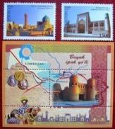 Uzbekistan  2013 Great Silk Way  S/S +2 V MNH - Ouzbékistan
