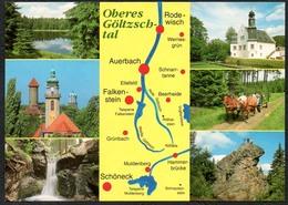 D2031 - TOP Landkarte Oberes Göltzschtal Falkenstein Auerbach Schöne - Verlag Bild Und Heimat Reichenbach Qualitätskarte - Vogtland
