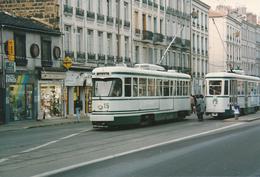 Saint Etienne (42) Novembre 1992 - Tramway - Rames N°15 & 16 - Saint Etienne