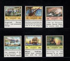 905916841 1983  SCOTT  300 305 POSTFRIS MINT NEVER HINGED EINWANDFREI (XX) 250TH BIRTHDAY OF CAPT. PHILIPPE DE CARTERET - Jersey