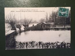 La Crue De La Meuse, 27 Février 1910. SEDAN-Derrière Le Manège De Cavalerie, 14°Division, Au Petit-Pont - Sedan
