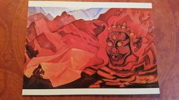 "Nicholas Roerich - ""Teachers""   HIMALAYA - Old USSR PC 1990 Rare Edition - Tibet"