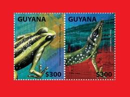Guyana 2014, Lizard, Frog, Lézard, Grenouille à Flèche Empoisonnée MNH ** - Autres