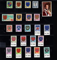 905919367 1981 1983  SCOTT  246 268 POSTFRIS MINT NEVER HINGED EINWANDFREI (XX) FAMILY ARMS QUEEN ELIZABETH II - Jersey