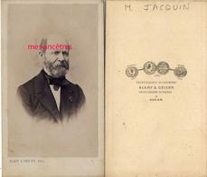 A Voir-CDV ALGER-Capitaine Du Génie Jean JACQUIN °1795 Metz, Dcd 1870 Alger-photo Alary Et Geiser - Guerra, Militari