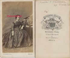 CDV A Voir-Madame Jean JACQUIN, Capitaine Du Génie, Née Laure PICQUEREL Photo Edouard Viel à Meaux - Guerra, Militari