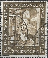 LUXEMBOURG 1958 1300th Birth Anniversary Of St Willibrord - 2f50 St. Willibrord Holding Child (after Puseel) FU - Usati