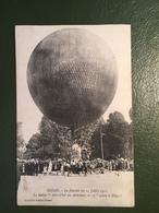"""SEDAN-La Journée Du 14 Juillet 1910 Le Ballon """"Aéro-club Des Ardennes,N°11"""" Avant Le Départ - Sedan"""