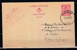 Postkaart Van Chimay Naar St André Lez Bruges - 1935-1949 Petit Sceau De L'Etat