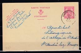 Postkaart Van Braine L'Alleud Naar St André Lez Bruges - 1935-1949 Petit Sceau De L'Etat