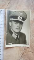 WW2 WWII ORIGINAL PHOTO PICTURE SOLDAT GERMANY ARMY OFFICER NAZI HAT CAP BADGE UNIFORM ARMEE DEUTSCHE WEHRMACHT - 1939-45