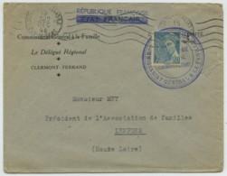 Type Mercure / Enveloppe 1944 Commissariat Général à La Famille Etat Français Caviardé République Française . Vichy . - Marcophilie (Lettres)