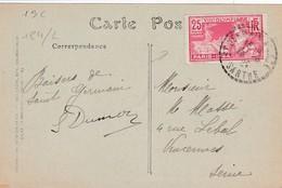 N° 184 S / CP T.P. Ob St Germain S .. Sarthe 1924 Pour Vincennes - 1921-1960: Modern Period