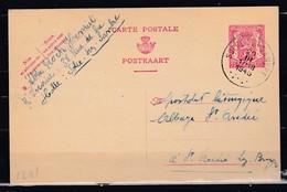 Postkaart Van Solre-Sur-Sambre Naar St André Lez Bruges - 1935-1949 Small Seal Of The State