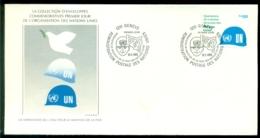 United Nations Geneva 1980 FDC Peacekeeping Operations Scott Series # 92 - FDC