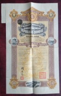 Chine . Emprunt Industriel Du Gouvernement De La République Chinoise . Obligation De 500 F . 5 % OR 1914 . - Actions & Titres