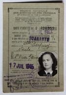 Ancienne Carte D'identité SNCF Années 40 Société Nationale Des Chemins De Fer Français Dupuy Nicole Saint Ouen Sur Seine - Vieux Papiers
