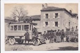 CP 43 SAUGUES Service Autobus Place Poids Public Et Hotel De France - Saugues