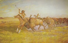 "Buffalo Hunt ""Jerky On The Hoof"" , 50-60s - Native Americans"