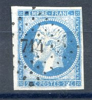 France N°14 OBL - PC 714 (Champcenest) - (F547) - 1853-1860 Napoleon III