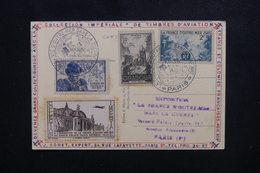 FRANCE - Vignette + Carte Et  Oblitération  De L 'Exposition De La France D'Outremer En 1945 - L 49753 - Brieven